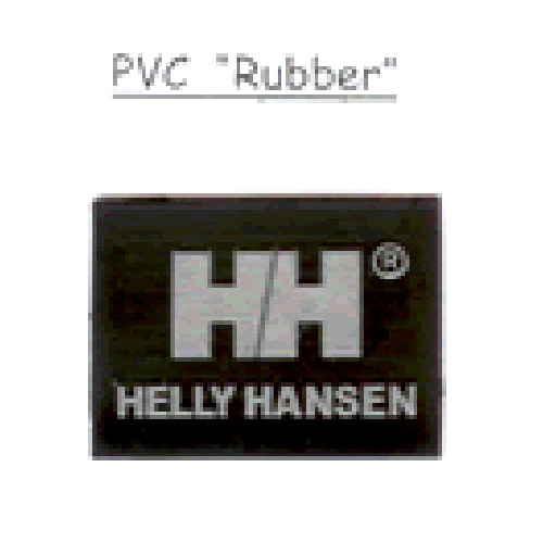 PVC Rubber label
